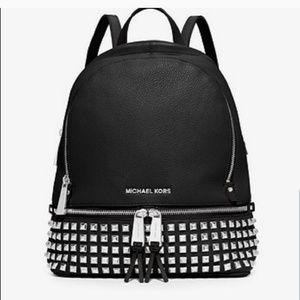 Michael Kors pebble medium leather studde backpack